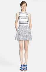 31 Phillip Lim Chevron Detail Full Skirt Dress at Nordstrom