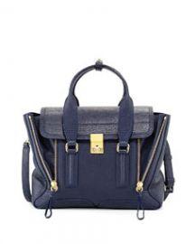31 Phillip Lim Pashli Medium Zip Satchel Bag Ink at Neiman Marcus