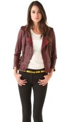 31 Phillip Lim Ruffle Leather Jacket at Shopbop
