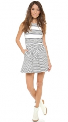 31 Phillip Lim Sleeveless Dress with Full Skirt andamp Insets at Shopbop