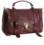 Proenza Schouler burgundy leather 'PS1' medium convertible satchel at Bluefly