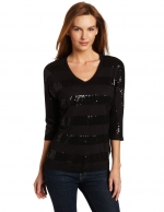 Black striped sequin shirt like Zoes at Amazon