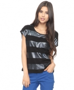 Black striped sequin shirt like Zoes at Forever 21