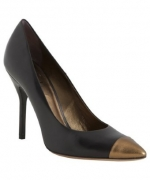 Gold capped heels like Zoes at Bluefly