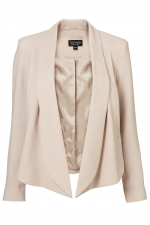 Cream waterfall jacket like Zoes at Topshop