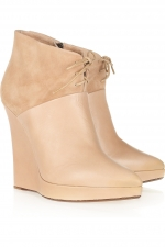 Zoe's cream booties at Outnet
