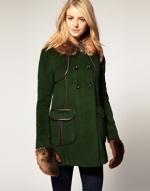 Olive green coat like Serenas at Asos
