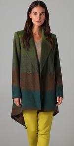 Serena's green coat on Gossip Girl at Shopbop