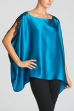 Blue silky pj top from Gossip Girl at Natori