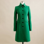 Green coat like Blairs at J. Crew