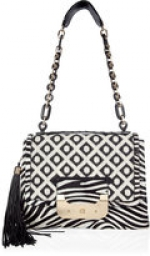 Serena's black and white handbag from Gossip Girl at Stylebop