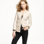Cream blazer like Blairs at J. Crew
