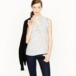 Sleeveless spot blouse like Lemons at J. Crew