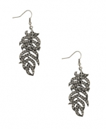 Silver leaf earrings like Zoes at Forever 21