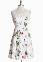 White floral dress at Ruche