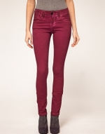 Dark red jeans like Pennys at Asos