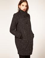 Dark tweed coat like Blairs at Asos