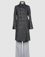 Double breasted tweed coat like Blairs at Yoox