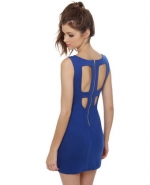 Blue cutout dress like Serenas at Lulus
