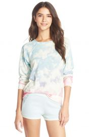 35mm Clothing Jenna Print Hacci Sweatshirt in Clouds at Nordstrom