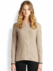 360 Sweater - Side-Zip Cable-Knit Sweater at Saks Fifth Avenue