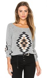 360 Sweater x Rocky Barnes Skyler in Heather Grey Combo from Revolve com at Revolve