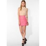 Pink lace skirt like Blairs at Urban Outfitters