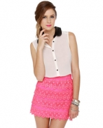 Pink lace skirt like Blairs at Lulus