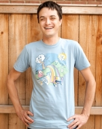 Abed's rainbow shirt at Threadless