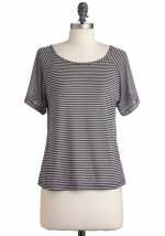 Sheer striped top like Brittas at Modcloth