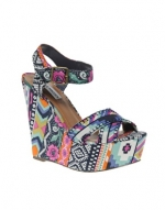 Aria's multi colored wedges at Asos