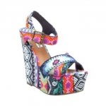 Aria's printed wedges at Steve Madden
