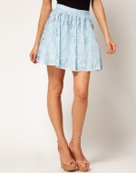 Textured blue skirt like Mindys at Asos