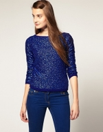 Blue sequined top like Mindys at Asos