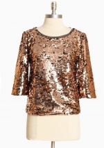 Similar top in gold at Ruche