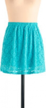 Turquoise skirt at Modcloth