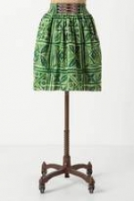 Aria's green skirt at Anthropologie