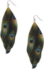 Peacock feather earrings like Arias at Forever 21
