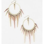 Spiked hoop earrings like Arias at Urban Outfitters