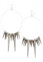Spiked hoop earrings like Arias at Delias