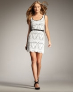 Hanna's lace dress at Neiman Marcus