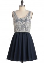 White lace dress at Modcloth