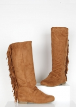 Fringed boots like Arias at Delias