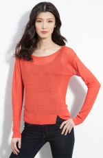 Spencer's red longsleeve top with split at Nordstrom