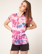 Pink tie dye top like Hannas at Asos