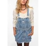 Denim overall dress at Urban Outfitters