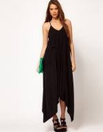 Black asymmetric maxi dress like Hannas at Asos