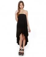 Black strapless maxi dress like Hannas at Lulus