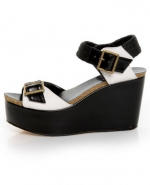 Black and white wedges like Hannas at Lulus