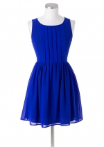 Blue pleat front dress like Arias at Delias